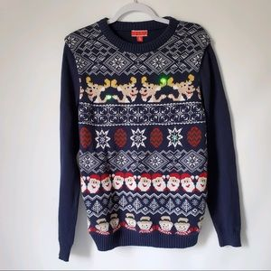 Christmas Ugly Warm Knit Light Up Sweater